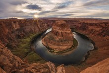 Sunburst over Horseshoe Bend