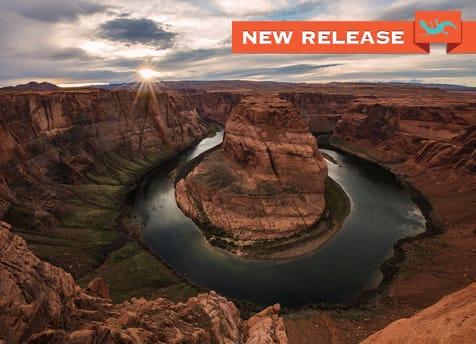 New Release Image Sunburst over Horseshoe Bend